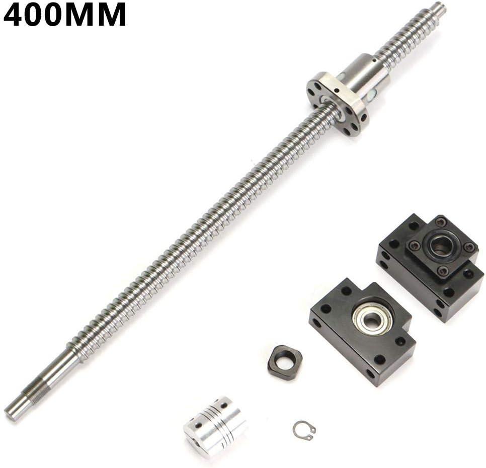Gegenmuttern Sicherungsring Szseven SFU1605 Spielfreie Kugelumlaufspindel L200mm-750mm 6,35x10mm Kupplungssatz BK // BF12 St/ützfu/ß