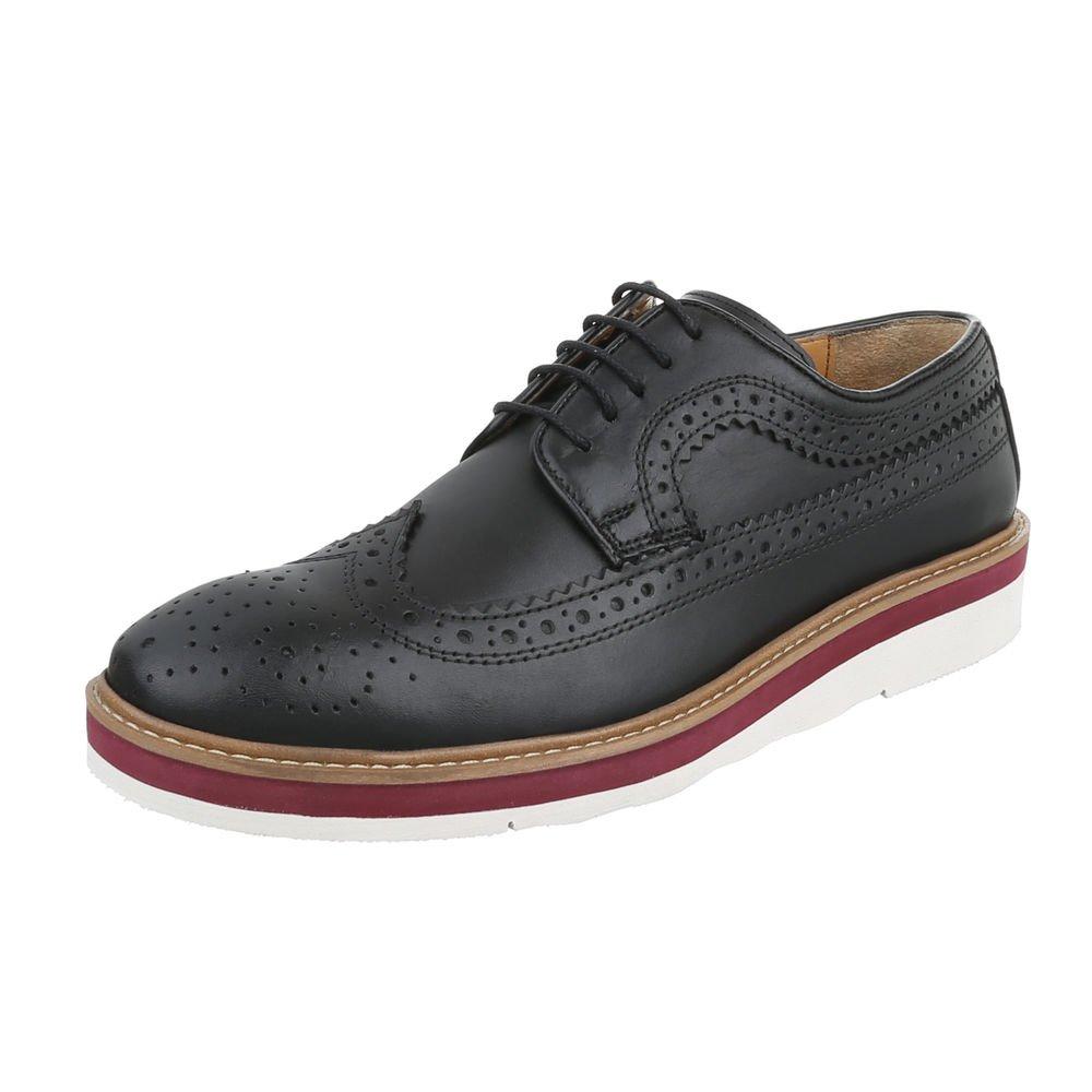 TALLA 44 EU. Ital-Design - Zapatos Planos con Cordones Hombre