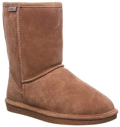 (BEARPAW Women's Wide Calf Emma Short Boot (9 B(M) US, Hickory))