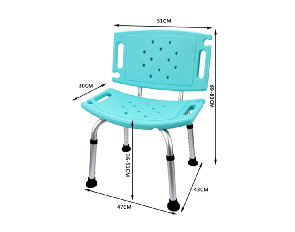 Amazon.com: Shower chair, Height adjustable Non-slip Bathroom Old ...