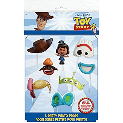 Unique Industries Disney Toy Story 4 Movie Photo Booth Props - 8 Per Pack: Toys & Games