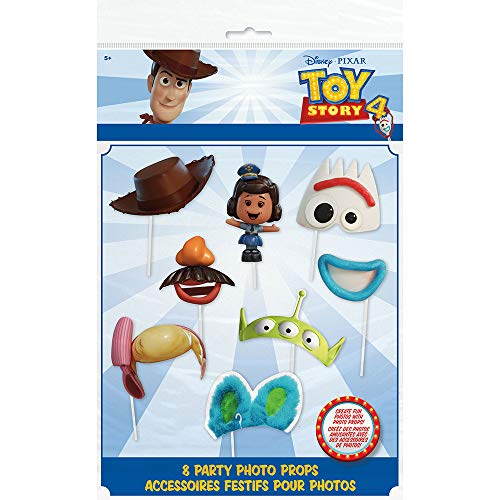 Unique Industries Disney Toy Story 4 Movie Photo Booth Props - 8 Per Pack