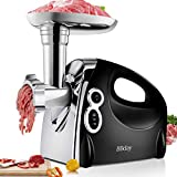 Electric Meat Grinder, Stainless Steel Meat Slicer & Sausage Stuffer...