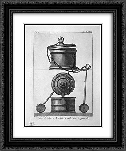 Giovanni Battista Piranesi 2X Matted 20x24 Black Ornate Framed Art Print 'Vases and toiletries, Found in Pompeii'