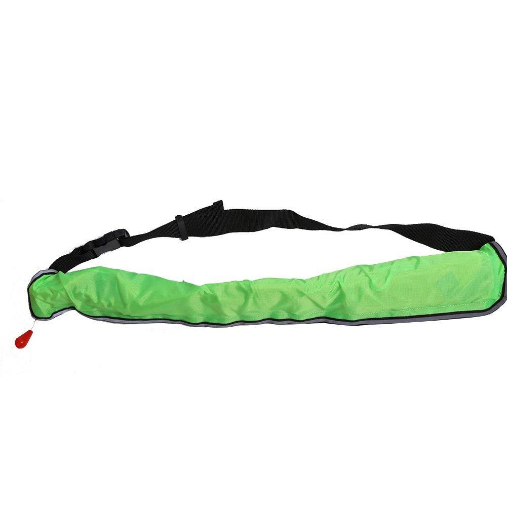 【在庫あり/即出荷可】 インフレータブルライフジャケットウエストベルト、Flotation Device Whistle Device With反射テープand Whistle 蛍光緑 蛍光緑 B07G2MZGY6, ライトアロイ:4b323937 --- a0267596.xsph.ru