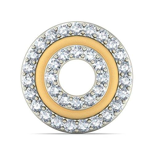 14K Or jaune 0,35CT TW White-diamond (IJ | SI) Boucles d'oreille à tige