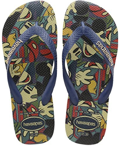 - Havaianas Mens Disney Stylish Sandal Navy Blue, Navy Blue, 45/46
