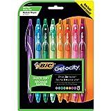 BIC Gel-ocity Quick Dry Retractable Gel Pen, Medium Point (0.7 mm), Assorted Colors, 8-Count