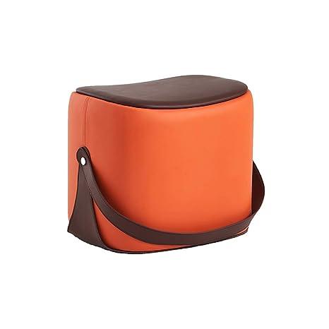 Stupendous Amazon Com Qyloz Portable Sofa Bench Square Pine Leather Dailytribune Chair Design For Home Dailytribuneorg