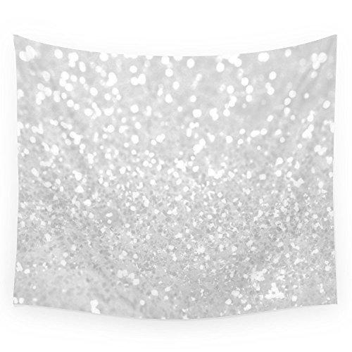 Society6 Chic Elegant Glamour White Faux Glitter Wall Tapestry Medium: 68