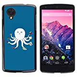 For LG Nexus 5 D820 D821 , S-type Funny Think Outside The Box - Colorful Printed Hard Protective Back Case Cover Shell Skin