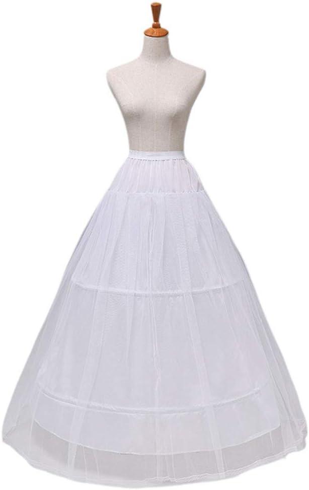 VIccoo 2 Hoops 1 Capa de Hilo Rock Novia Vestido Apoyo Petticoat ...