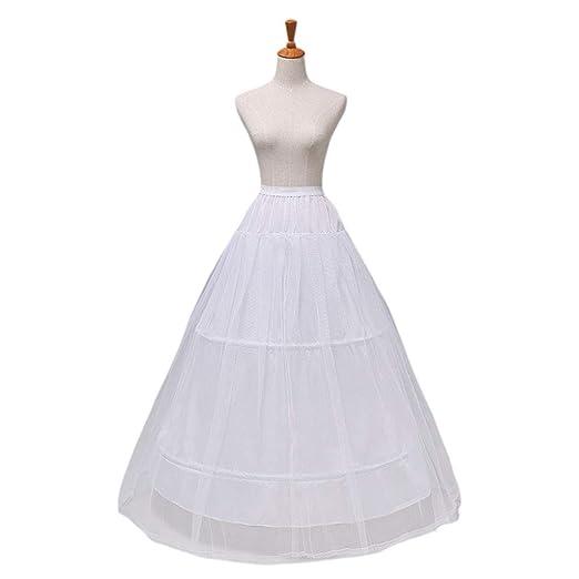 chenpaif 2 Aros Falda de Hilo de 1 Capa Novia Vestido de Novia de ...