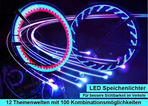 CannyB Light Fahrrad Licht Reflektoren 7 LED Vollfarbige Rad ...