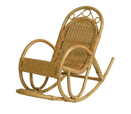 Kinderschaukelstuhl / Schaukelstuhl aus Rattan Farbe Honig