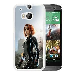 New Unique Custom Designed Case With Ultron Scarlett Johansson White For HTC ONE M8 Phone Case