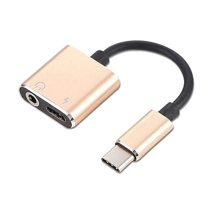 Teepao 2 en 1 Adaptador de USB-C a 3,5 mm, Tipo de C a