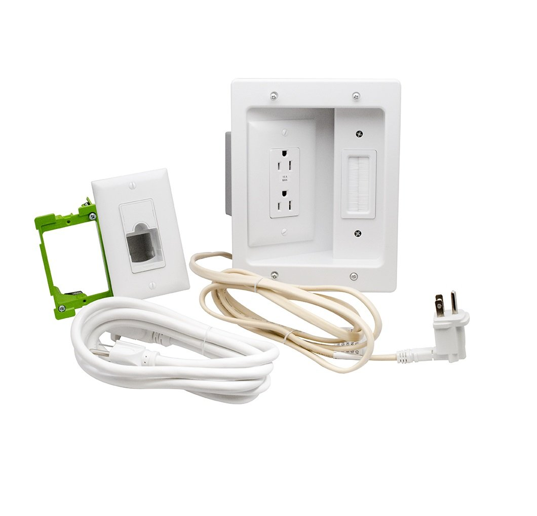on q legrand ht2202whv1 inwall tv power kit electrical outlet rh amazon com Simple Wiring Schematics Tow Wiring Kits