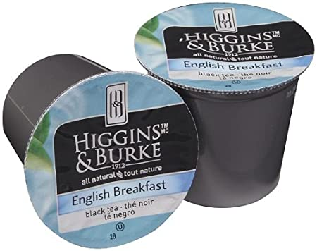 Higgins and Burke Tea Capsules English Breakfast Package compatible with Keurig K-Cup Brewers, 48...