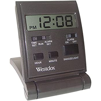 Amazon.com: Westclox Travelmate Folding Alarm Clock, Black