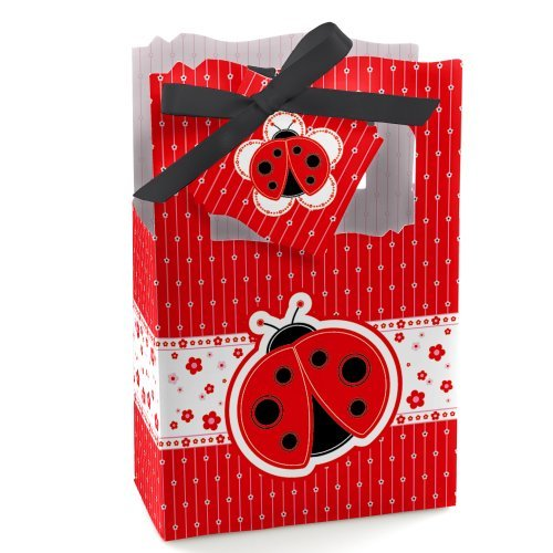 (Modern Ladybug - Baby Shower or Birthday Party Favor Boxes - Set of 12)