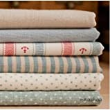 Cotton Linen Fabric Cloth Cloth Art Stripe Anchor Cloth Set