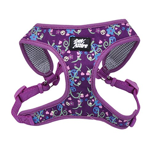 Coastal pet attire Purple Bouquet XS harness 8-14 lbs 16-19