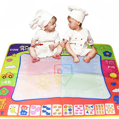 80X60cm Baby Drawing Writing Board Water Painting Doodle Canvas - 9