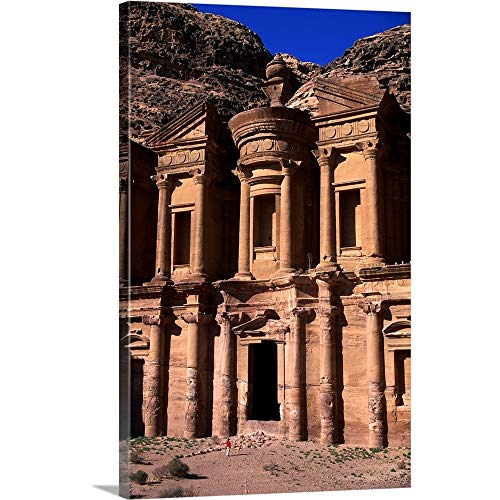 GREATBIGCANVAS Gallery-Wrapped Canvas Entitled Al Deir or The Monastery in Petra by ()