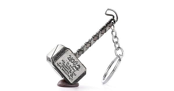 Amazon.com: Llavero de martillo de Thor – Mjolnir, Plateado ...