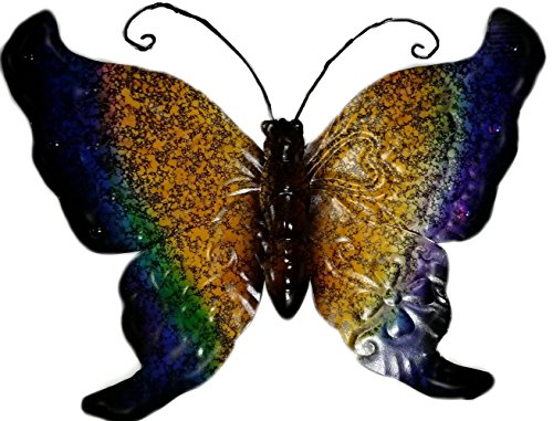 Butterfly Metal Wall Hanging--Yellow/Blue/Green/Black