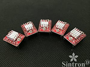 [Sintron] 5 Pcs A4988 StepStick Compatible Stepper Motor Driver Module with...