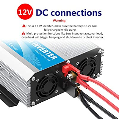 Modified Sine Wave Power Inverter 3000 Watt DC12 Volt to AC 120 Volt with Remote Control and LED Display Dual AC Outlets & USB Port for RV Truck Boat by GIANDEL: Automotive