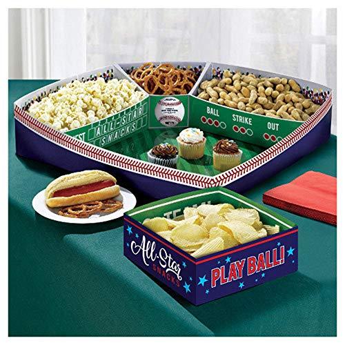 Baseball Paper Snack Stadium Set (1ct) -