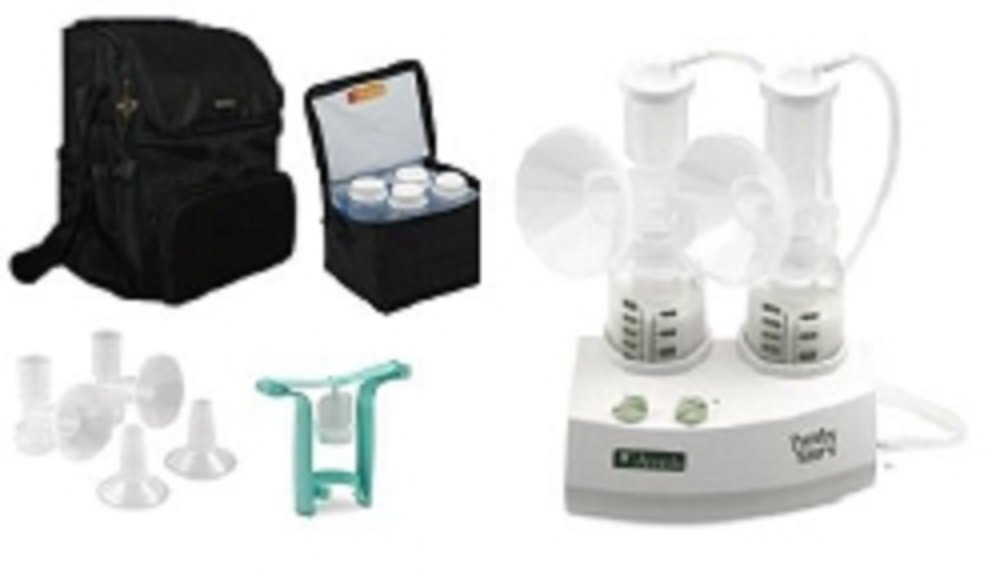 Ameda Purely Yours Breast Pump 2009 with Carry All Bag and Comfort Gel Hydrogel Soothing Breast Pads - BPA Free