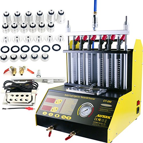 AUTOOL CT200 Petrol 6 Cylinder Car Motorcycle Fuel Injector Ultrasonic Cleaner & Tester Fuel Injection Leakage/Blocking Testing Machine Tool Kit 110V/220V (CT200 Unit) by AUTOOL (Image #9)
