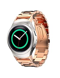Samsung Gear S2 Watch Band AWStech Stainless Steel Watch Band + Connector For Samsung Galaxy Gear S2 SM-R720/R730 - Rose Gold