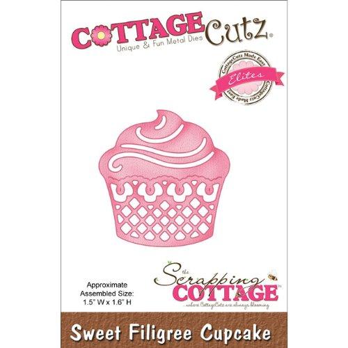 CottageCutz Elites Die Cuts, 1.5 by 1.6-Inch, Sweet Filig...