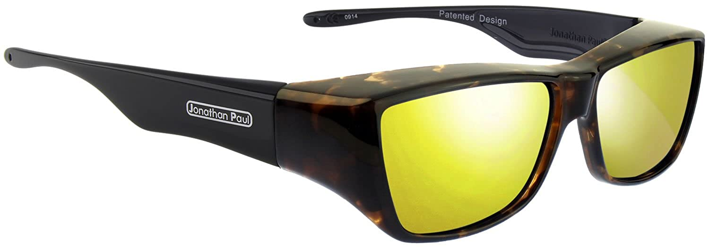 27ce1a3dd6 Amazon.com  Jonathan Paul Fitovers Neera Large Polarized Over Sunglasses    Blue-Blast   Polarvue Blue Mirror  Clothing