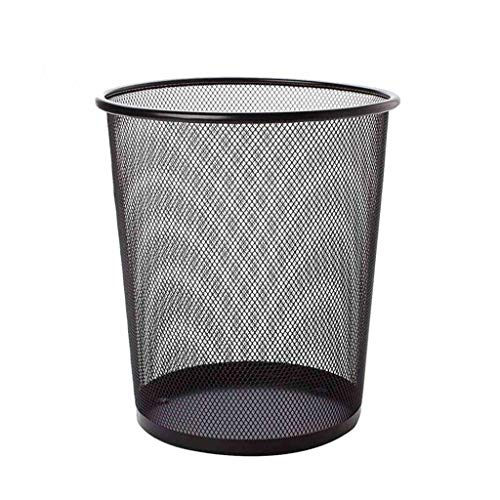 Wastebasket Household Office Trash can Kitchen Living Room Bathroom Trash can Barbed Wire Without Cover Paper 28.5Cm W 35cm 23 cm Trash Can (Color : Black, Size : 23.52618.5cm)