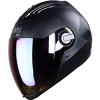 8281eb2e Steelbird Air SBA-2 Matt Black with Rainbow Visor,580mm: Amazon.in: Car &  Motorbike