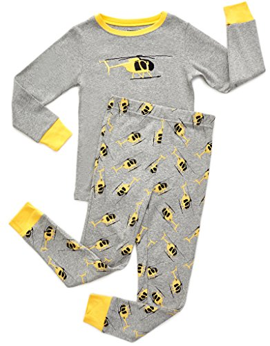 Leveret Helicopter 2 Piece Pajama Set 100% Cotton 2 Years (Onesie Helicopter)