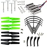 Drone Repair Parts - XiaoPengYo Spare Parts Motor + Propeller Blade Protecting Frame & Landing Skids & Gear Compatible for Syma X5SC X5SW X5SC-1 Quadcopter (Black)