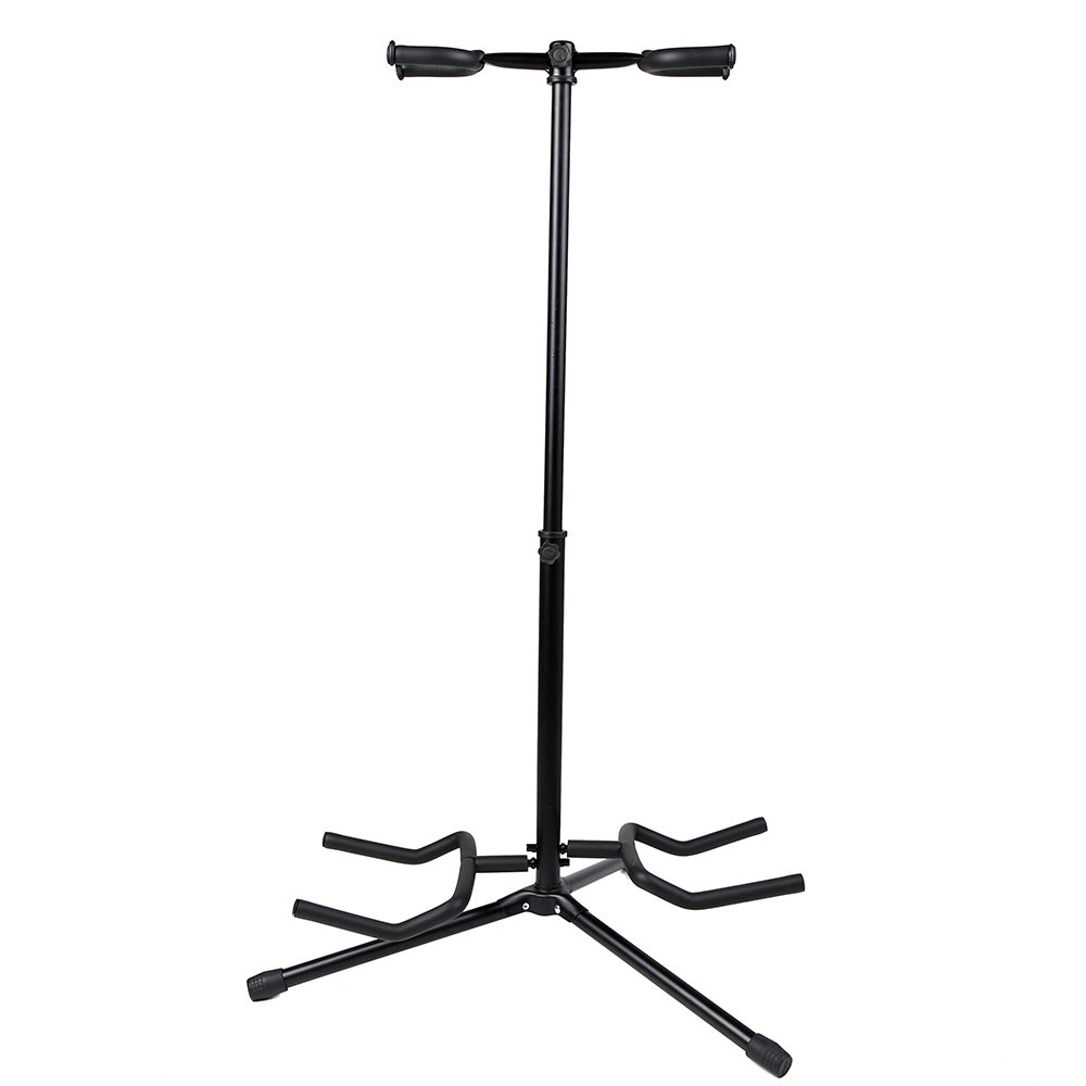 1Pc Double Guitar Stand Detachable Folding Adjustable for Acoustic Electric Guitar Bass
