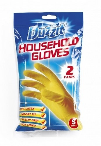 Duzzit Household Gloves 2 Pairs Small Size