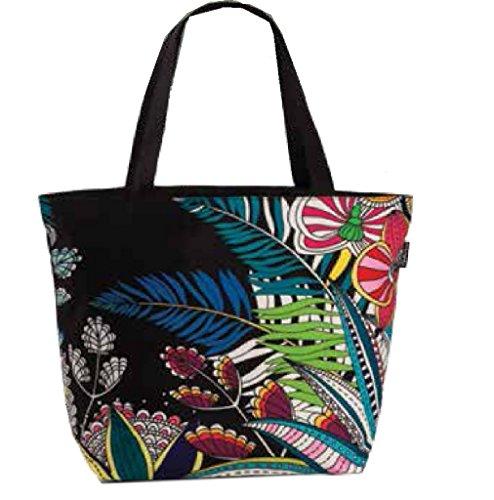 Fabrizio Badetasche Strandtasche Urlaubstasche Tasche 58x40cm bunt schwarz-weiß