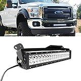 "iJDMTOY 20"" 120W High Power LED Light Bar w/ Lower Bumper Grill Mounting Bracket For 2011-2016 Ford F-250 F-350 Super Duty"