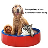 MLCINI Dog Bathtub Foldable Pet Bath Pool Outdoor and Indoor Collapsible Dog Shower Swimming Tub for Small Medium Dogs Cats