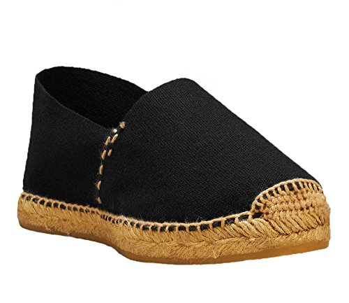 Hand DIEGOS Women's Thread Spain Espadrilles Made Men's in Black Jute q4tTC4v
