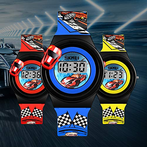 Kids Digital Watches 3D Car Silicone Children Toddler Wrist Watches Time Best Gift for Boys Girls Little Child by Farsler (Image #1)